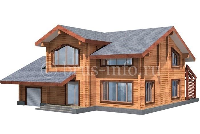Модель дома из бруса