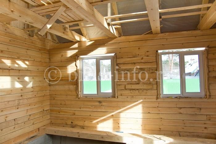 Монтаж пластиковых окон в дом из бруса