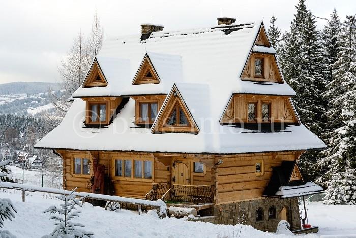 Изящный деревянный дом
