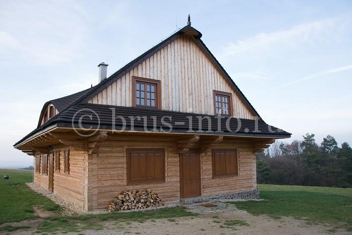 Дом из бруса без внешней отделки