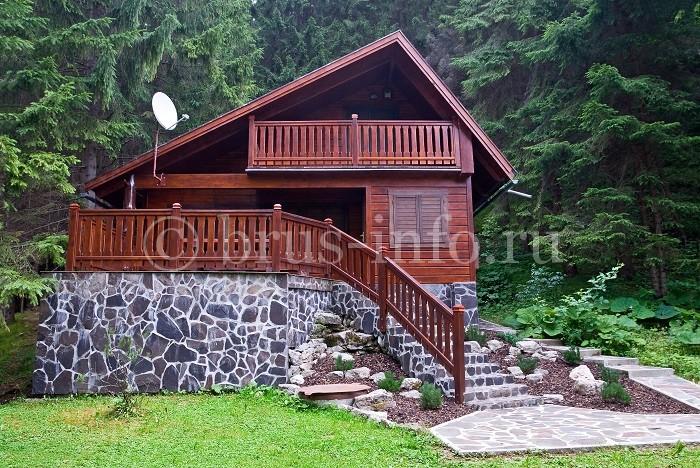 Дом из пакетного бруса с террасой