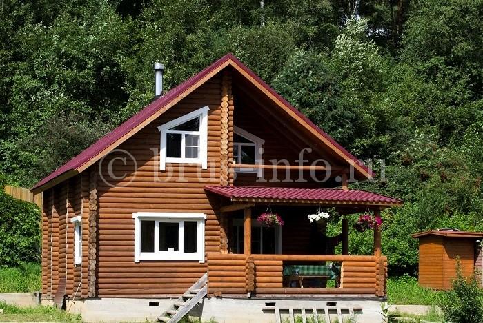 Теплый бревенчатый дом