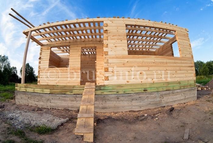 Строительство дома из клеёного бруса