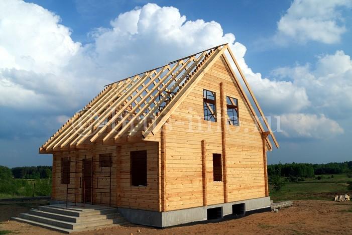 Строительство одноэтажного дома из бруса