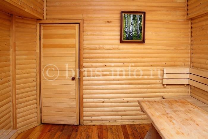 Обшивка бани блок хаусом