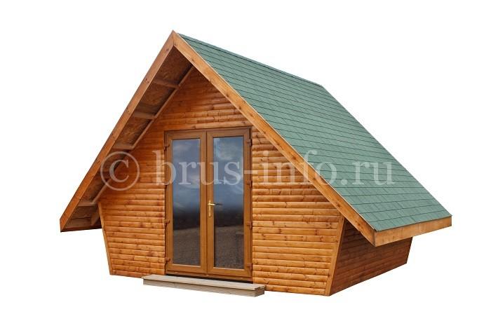 Модель домика из бруса