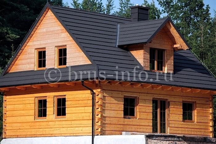 Дом из бруса со слуховым окном
