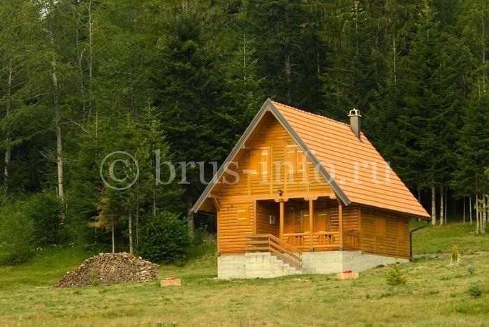 Дачный домик из двойного бруса