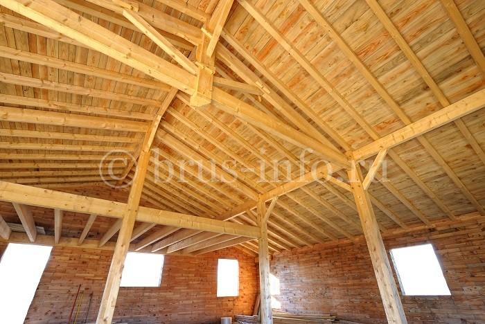 Стропильная система крыши с малым уклоном