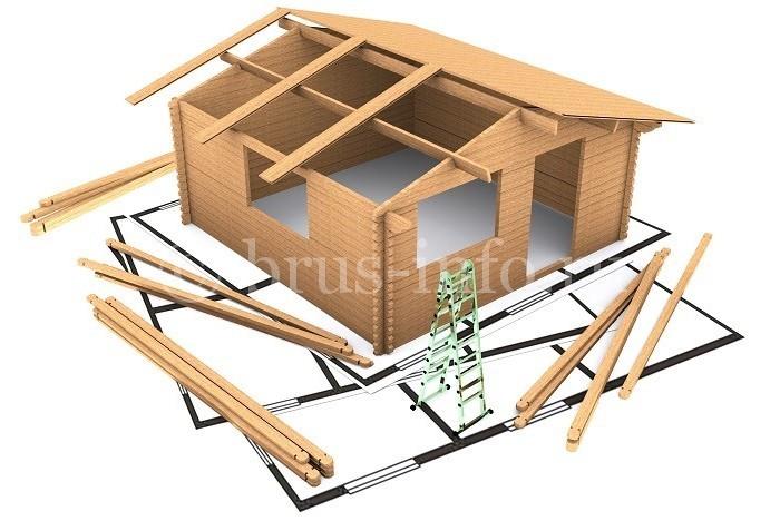 Модель деревянного домика для отдыха