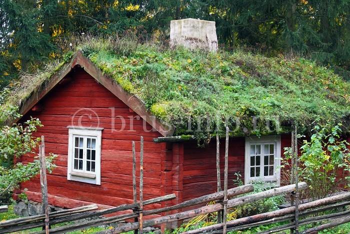 Дом с крашеными наружными стенами