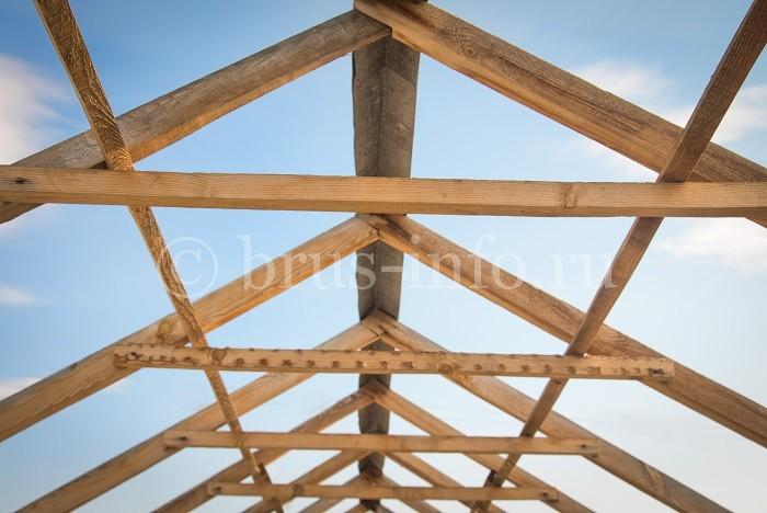 Стропильная конструкция брусового дома