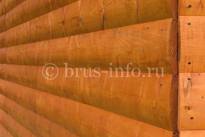 Внешняя обшивка стен имитацией бруса