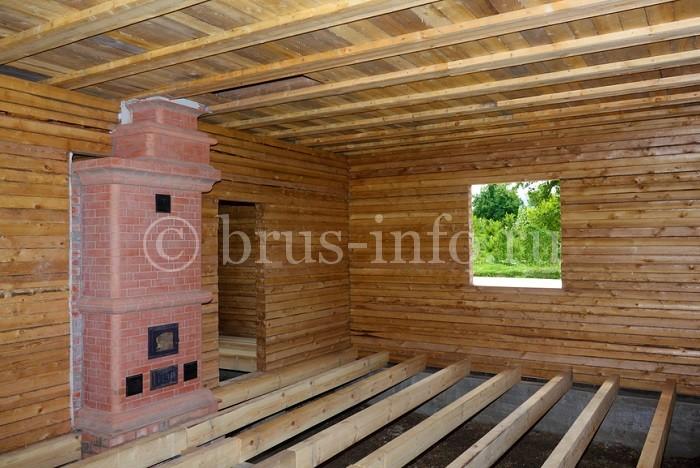 Черновой пол в деревянном доме