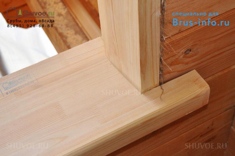 Устройство обсады в деревянном доме
